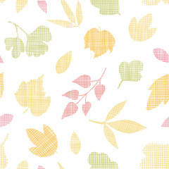 Abstract textile texture fall leaves seamless pattern background