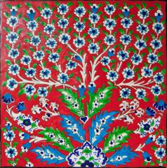 Red elegant tile