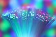 colorful fiber optical light.