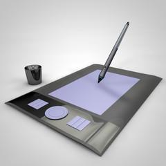 3d render graphics tablet