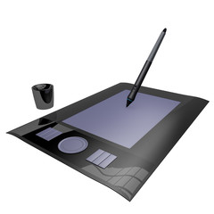 3d render graphics tablet