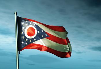 Ohio (USA) flag waving on the wind