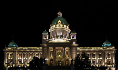 Parliament building in Belgrade, Serbia