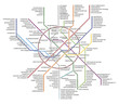 Постер, плакат: The original version of the scheme of the Moscow metro