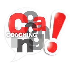 bulle mosaïque lettres : coaching (cs5)