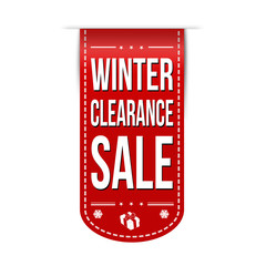 Winter clearance sale banner design