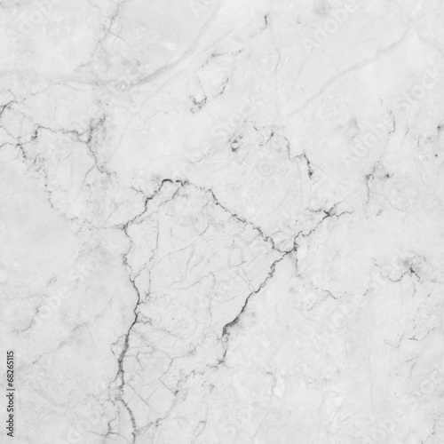 White marble with natural pattern. - 68265115
