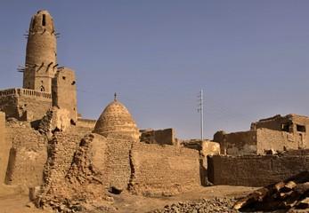 Scenery of Al-Qasr in the Dakhla Oasis in Egypt
