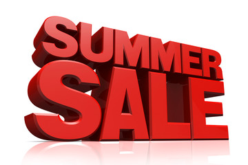 3D red text summer sale