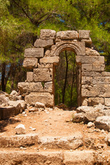 The ruins of the ancient city of Phaselis