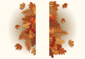 Autumn background, vector illustration