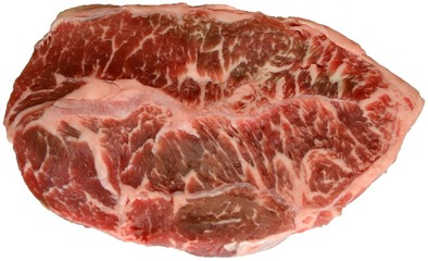 Raw Beef Steak Isolation