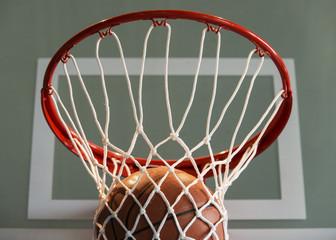 Basketball goal, ball and net