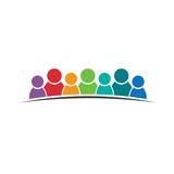 Teamwork people 7. Group of people logo