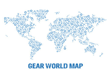 Abstract World gear map.