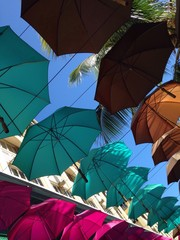 Umbrella shadow in town