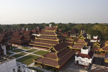 The Mandalay Palace view from the top