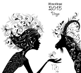 2015 year of the beautiful goat and Zodiac sign virgo. fashion g