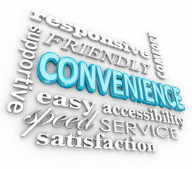 Convenience 3d Word Collage Fast Friendly Service