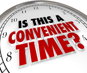 Is This a Convenient Time Question Clock