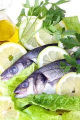 Spigola,olio e limone