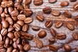 Black coffee grain, bean
