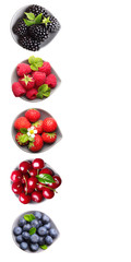 Summer berry fruits isolated.
