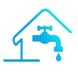 logo plombier, besoin en eau de la maison