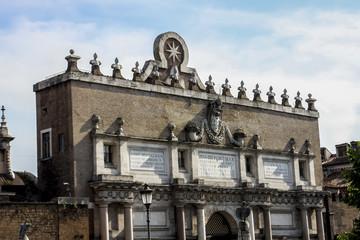 Porta del Popolo in Rome, Italy