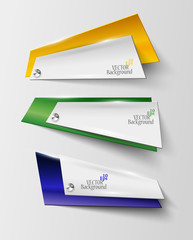 abstract geometric banner in Brazil color - vector illustration