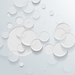 Abstract white circle background - Vector illustration