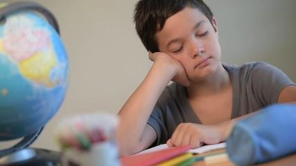Child, Student, Education, School, Tired, Dozing, Sleeping