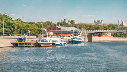 Berth near Novospassk bridge on Moscow river