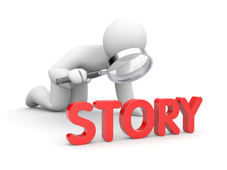 Person read story