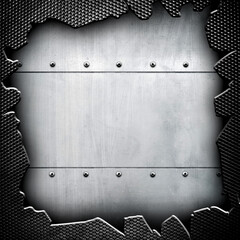 cracked metal background
