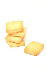 snack cotti al forno sfondo bianco