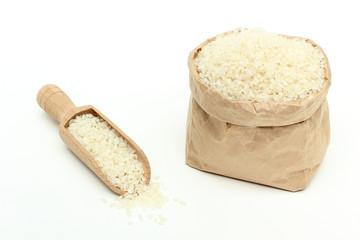 riso bianco in sacchetto