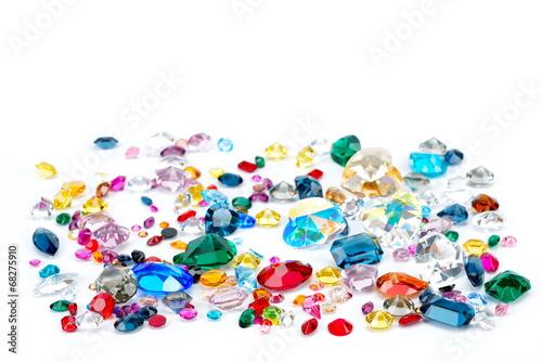 bright gems isolated on white background - 68275910