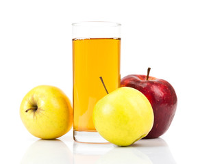 apple with juice