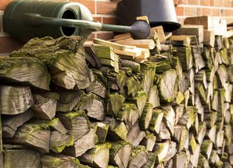 firewood near the wall