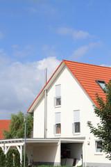 Haus im Hochformat