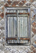canvas print picture - Fensterladen