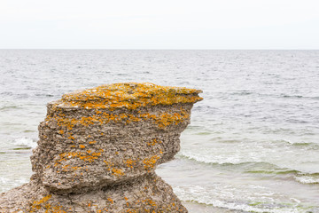 Sea stacks at sea