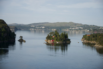 Landscape in the fjord of Hejelte in Norway