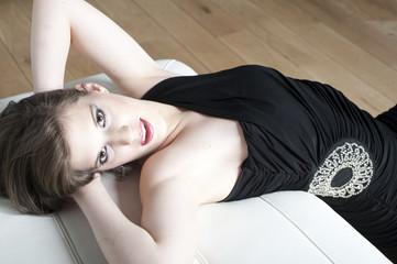 Portrait d'une jeune femme sensuelle
