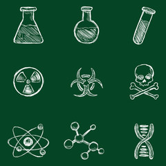 Vector Chemistry Icons.