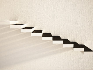 white stairs or shelves