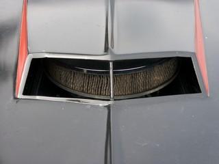 Lufthutze mit Blick auf den Luftfilter des V8 Motor