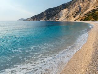 Myrtos Beach (Greece,  Kefalonia, Ionian Sea).