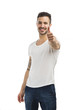 Man smiling with thumb up